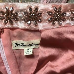 For Love & Lemons silk slip dress with beading